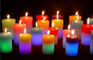 Las velas y el significado de los colores