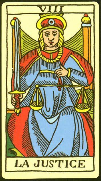El número 8 La-Justicia-y-el-tarot