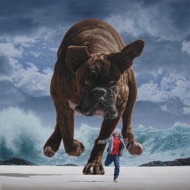 soñar perros grandes