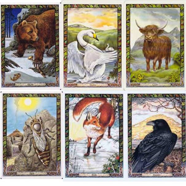 animales en el tarot